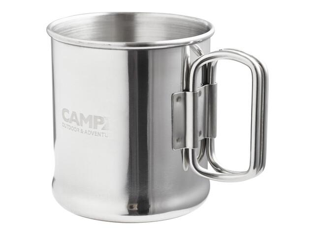 CAMPZ Edelstahlbecher - Tasse 300 ml avec anse - gris